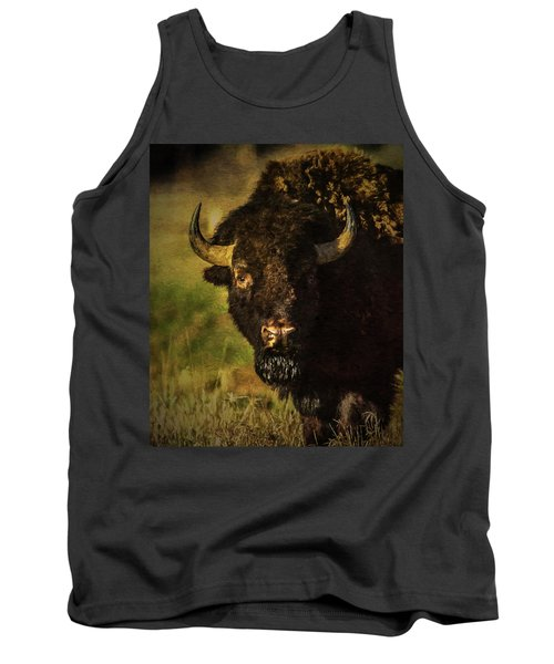 Tank Top featuring the photograph North American Buffalo by Lou Novick
