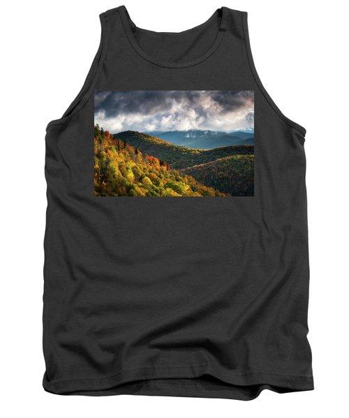 North Carolina Mountains Asheville Nc Autumn Sunrise Tank Top