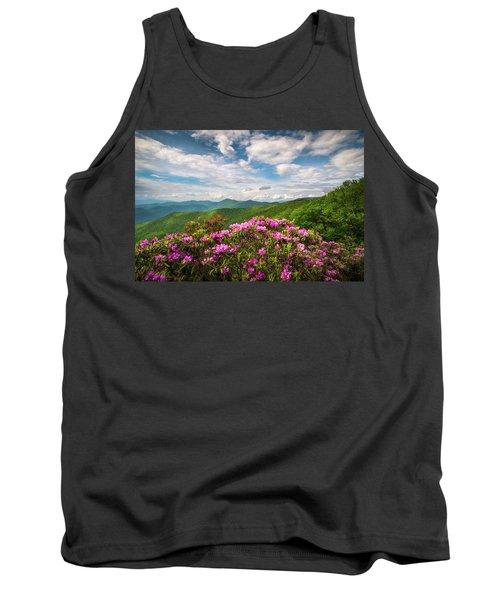 North Carolina Spring Flowers Mountain Landscape Blue Ridge Parkway Asheville Nc Tank Top
