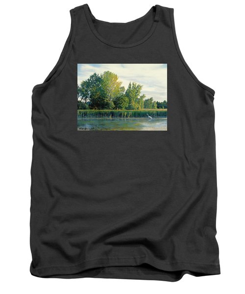 North Of The Grade-great Egret Tank Top by Bruce Morrison