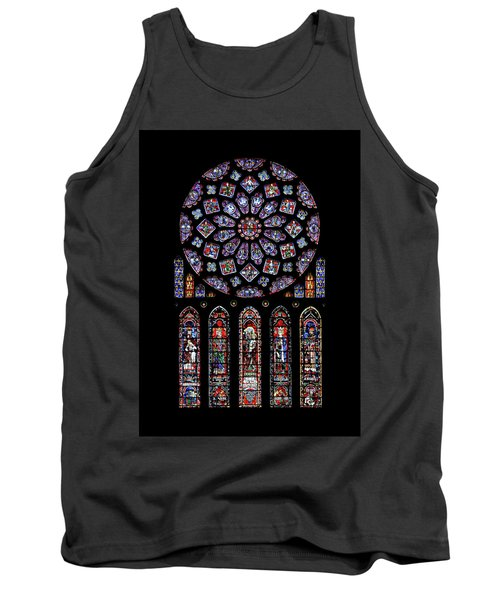 North Rose Window Of Chartres Cathedral Tank Top