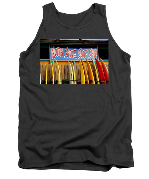 Tank Top featuring the photograph North Shore Surf Shop 2 by Jim Albritton