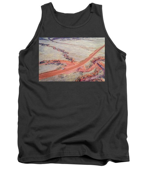 northern Colorado foothills aerial view Tank Top