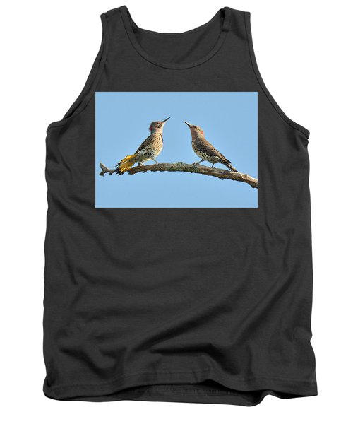 Northern Flickers Communicate Tank Top by Alan Lenk