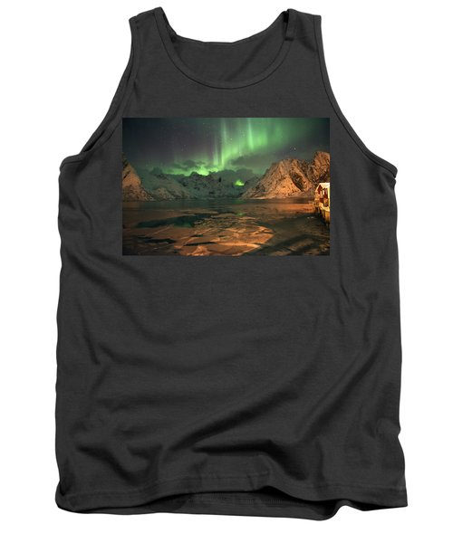 Northern Light In Lofoten, Nordland 1 Tank Top