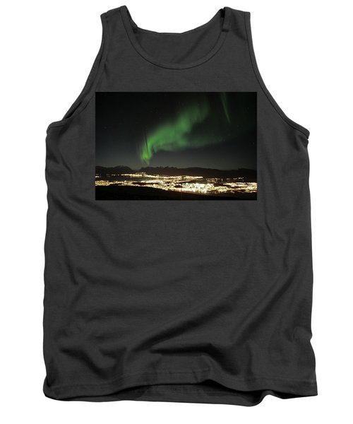 Northern Light In Troms, North Of Norway Tank Top
