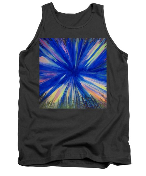 Tank Top featuring the painting Northern Lights 3 by Cathy Long