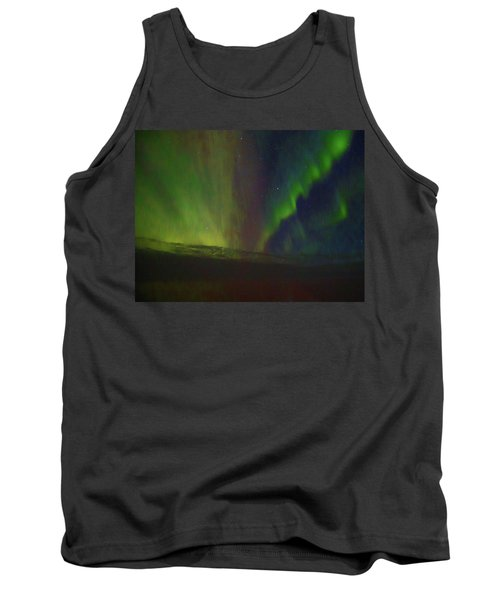 Northern Lights Or Auora Borealis Tank Top by Allan Levin