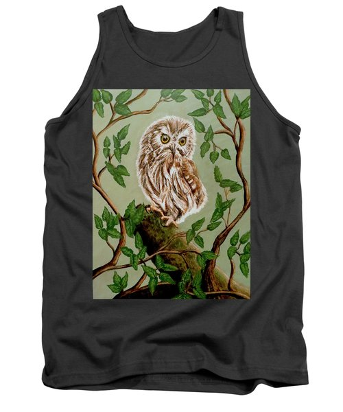 Northern Saw-whet Owl Tank Top