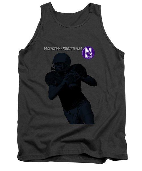 Northwestern Football Tank Top by David Dehner