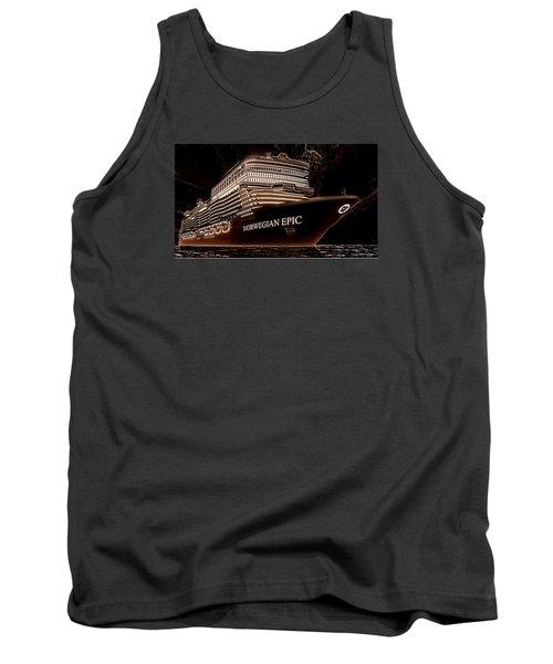 Tank Top featuring the photograph Norwegian Epic by Mario Carini