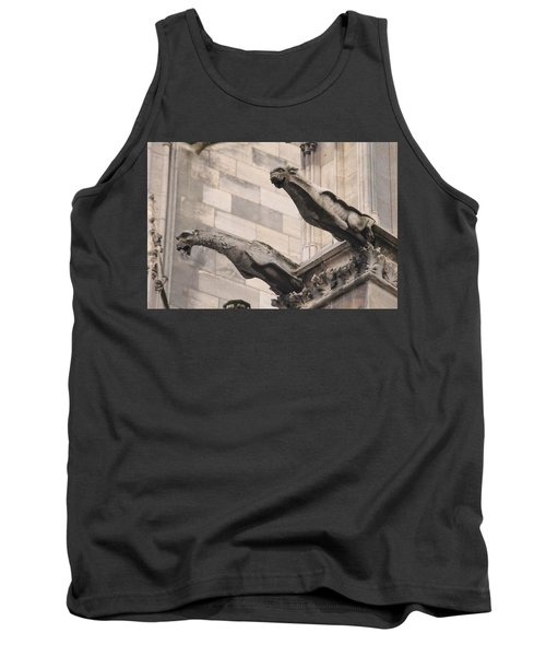 Notre Dame Cathedral Gargoyles Tank Top