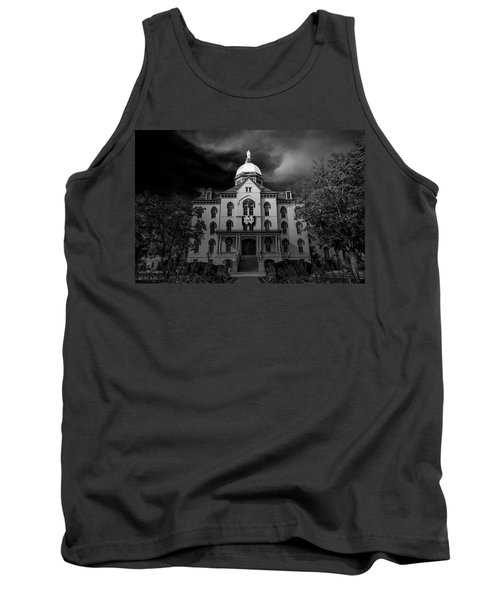 Tank Top featuring the photograph Notre Dame University Black White 3a by David Haskett