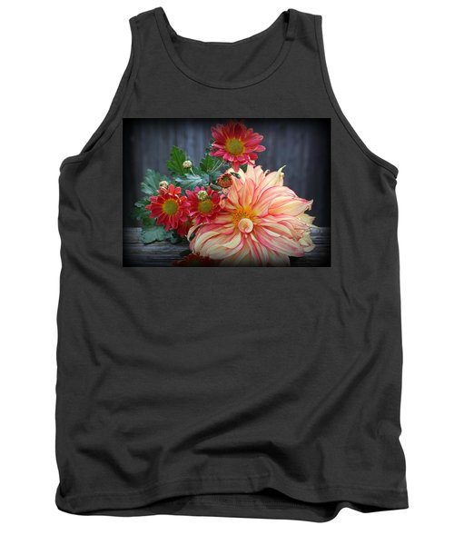 November  Flowers - Still Life Tank Top by Dora Sofia Caputo Photographic Art and Design