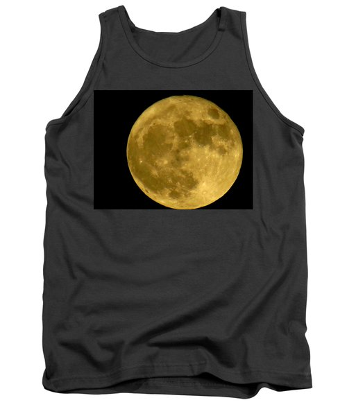 Tank Top featuring the photograph November Full Moon by Eric Switzer