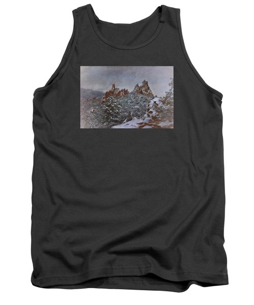 Tank Top featuring the photograph November Snow - Garden Of The Gods by Ellen Heaverlo