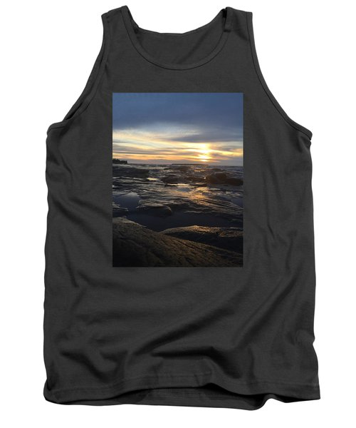 Tank Top featuring the photograph November Sunset On Lake Superior by Paula Brown