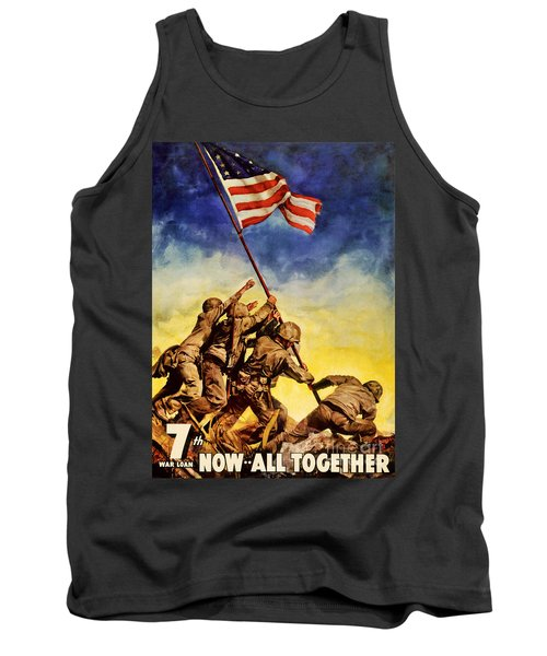 Now All Together Vintage War Poster Restored Tank Top