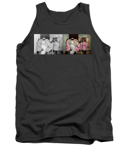 Tank Top featuring the photograph Nurse - Playing Nurse 1918 - Side By Side by Mike Savad