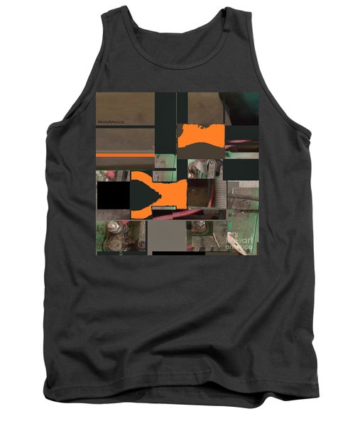 Tank Top featuring the mixed media Nuts And Bolts by Andrew Drozdowicz