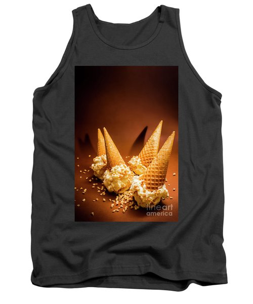 Nuts Over Ice-cream. Birthday Party Background Tank Top