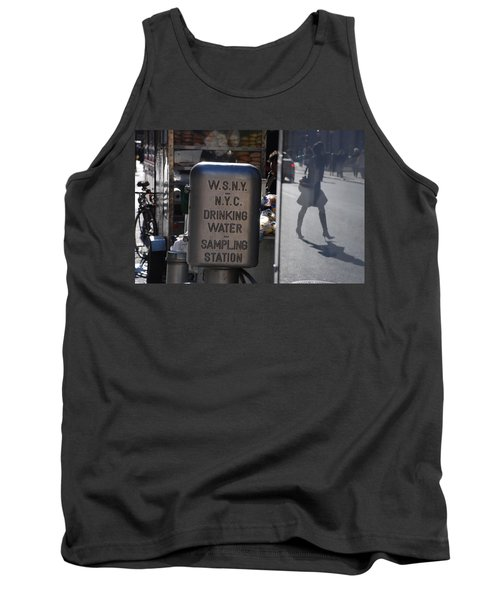 Tank Top featuring the photograph Nyc Drinking Water by Rob Hans