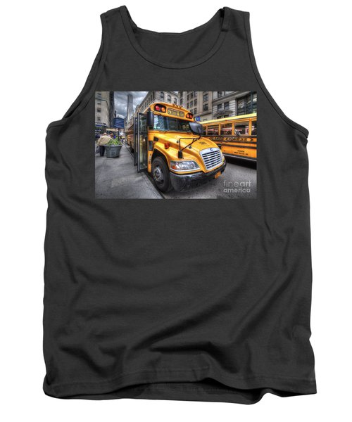 Nyc School Bus Tank Top by Yhun Suarez