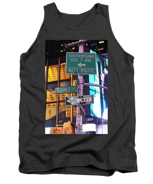 Nyc Street Sign Tank Top by Kate Purdy
