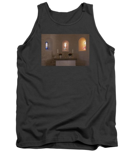 Tank Top featuring the photograph Nyker Round Church Altar by Inge Riis McDonald