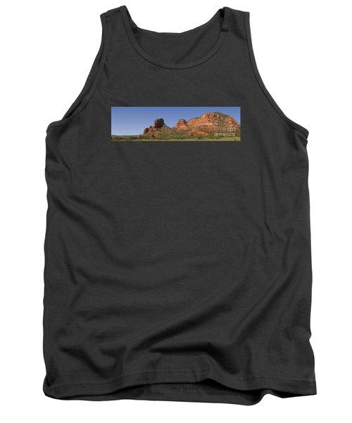 Oak Creek Panorama In Red Tank Top