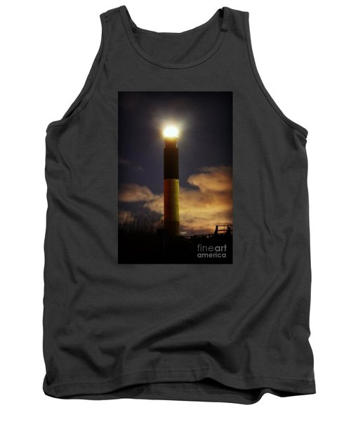 Tank Top featuring the photograph Oak Island Lighthouse by Kelly Nowak