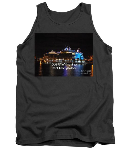 Tank Top featuring the photograph Oasis Of The Seas by Gary Wonning