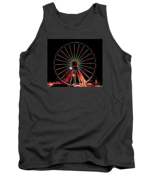 Oc Pier Ferris Wheel At Night Tank Top by William Bartholomew