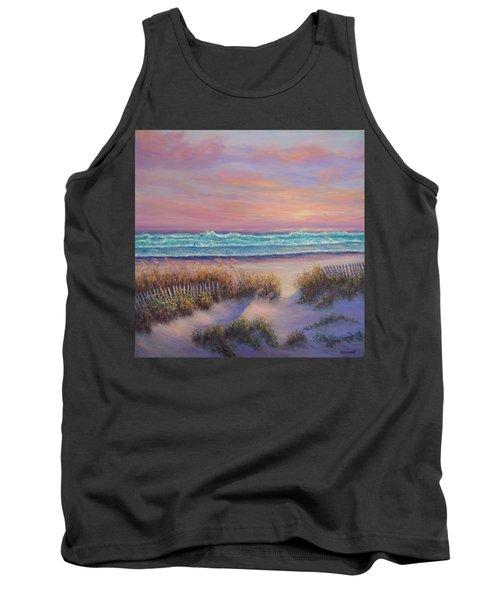 Ocean Beach Path Sunset Sand Dunes Tank Top