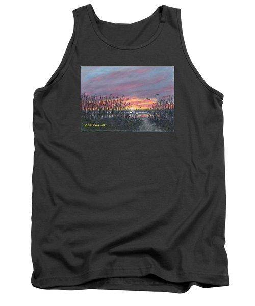 Tank Top featuring the painting Ocean Daybreak by Kathleen McDermott