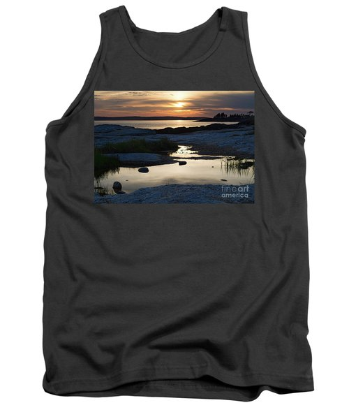 Ocean Point Sunset In East Boothbay Maine  -23091-23093 Tank Top