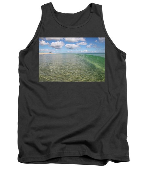 Ocean Waves And Clouds Rollin' By Tank Top
