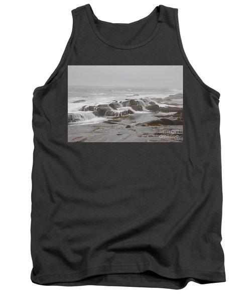 Ocean Waves Over Rocks Tank Top