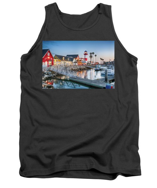 Oceanside Harbor Village At Dusk Tank Top