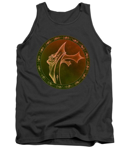 Tank Top featuring the drawing Oceanus Greek God  by Robert G Kernodle
