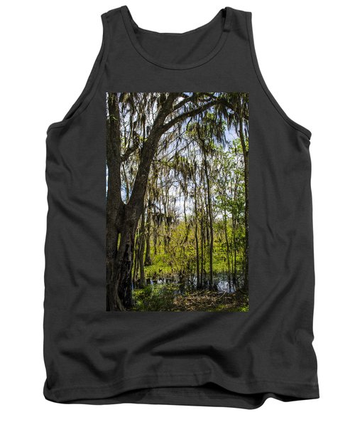 Ocklawaha Spanish Moss In The Swamp Tank Top