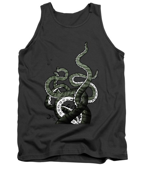 Tank Top featuring the drawing Octopus Tentacles by Nicklas Gustafsson