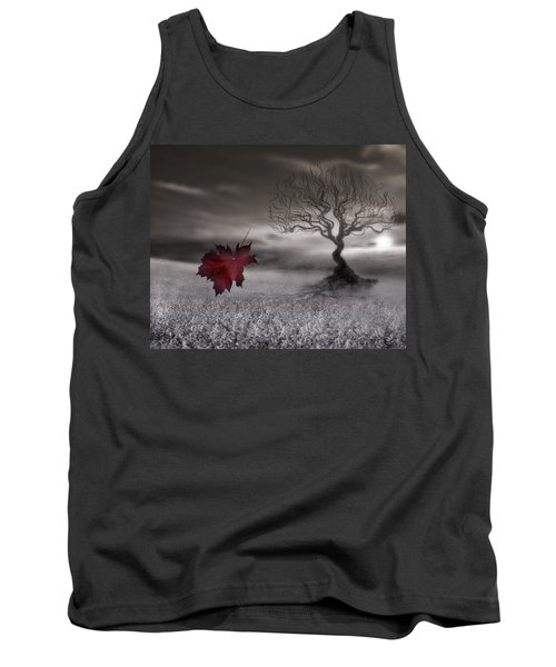 October Fades Tank Top by Gray  Artus