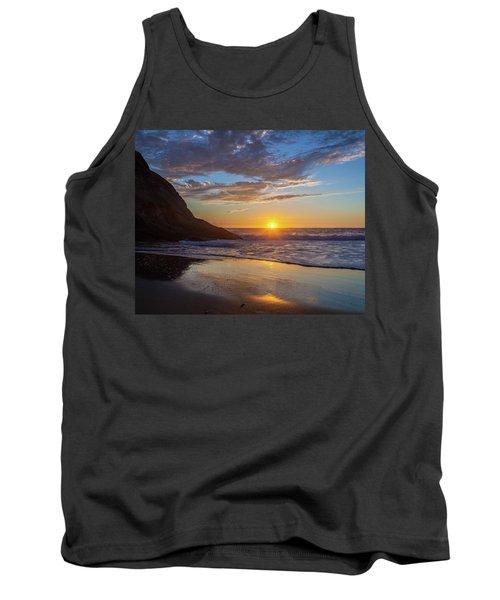 October Sunset Strands Beach Tank Top