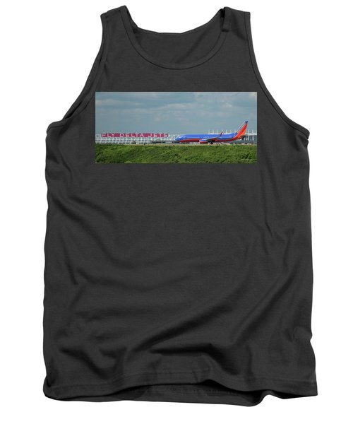 Odd Couple Delta Airlines Southwest Airlines Art Tank Top