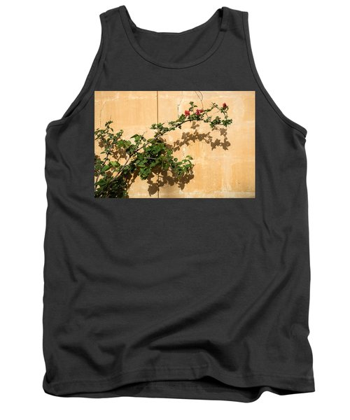 Of Light And Shadow - Bougainvillea On A Timeworn Plaster Wall Tank Top