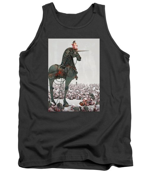 Tank Top featuring the digital art Offering by Te Hu