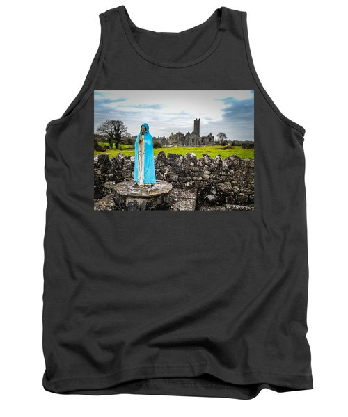 Official Greeter At Ireland's Quin Abbey National Monument Tank Top
