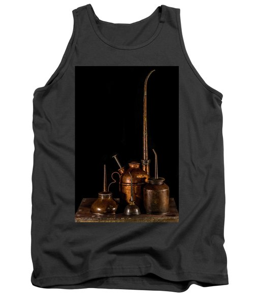 Tank Top featuring the photograph Oil Cans by Paul Freidlund