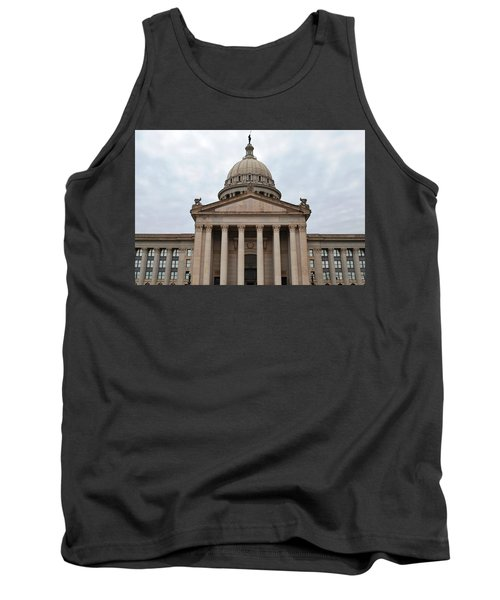 Oklahoma State Capitol - Front View Tank Top by Matt Harang